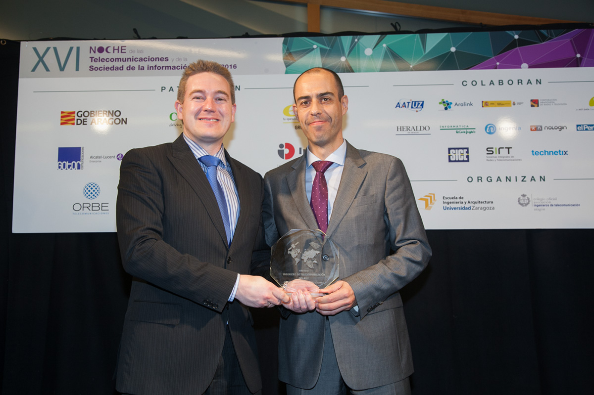 José María Alzaga (Director técnico de Gotor) - Premio Ingeniero de Telecomunicaciones 2016 en Aragón